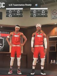 Rec jerseys are now red : NBA2k