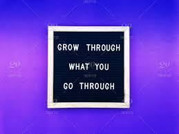 grow through what you go through hang in there tough tough life