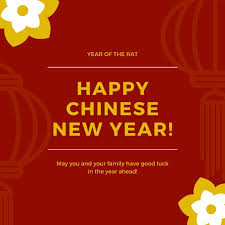 maroon chinese new year quote social media graphic templates by