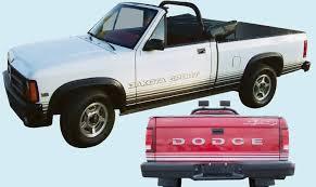 Phoenix Graphix 1988 89 Dodge Dakota Sport Truck Decal Kit