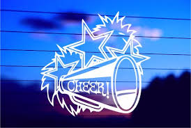 Cheer Car Decal Sticker