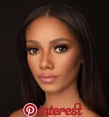 best natural makeup look for brown skin