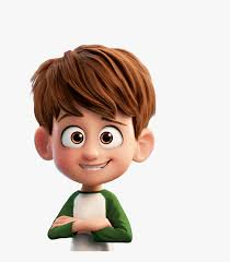 brown hair cartoon character boy