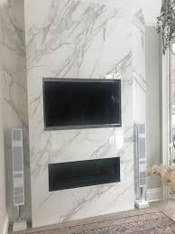 fireplace neolith calacatta marble