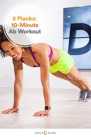 abs workout 5 planks 10 minutes