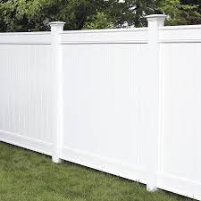 Freedom Ready To Assemble Everton 6 Ft H X 6 Ft W White Vinyl Flat Top Fence Panel In The Vinyl Fence Panels Department At Lowes Com