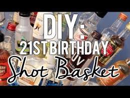 diy 21st birthday shot basket present