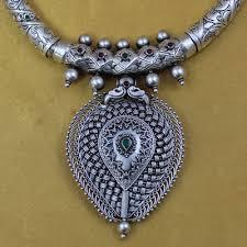925 silver hasli kemp stone necklace