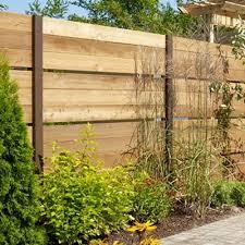 Bfd Rona Products Diy Build A Cedar Fence With Open Panels Cedar Fence Metal Garden Gates Garden Gates