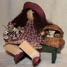 "Vintage LIZZIE HIGH DOLL ""Abigail Bowman"" Whimsical Wooden Folk Art #1199 |  eBay"