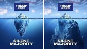 Trump 2016 v Trump 2020 Silent majority. : trump