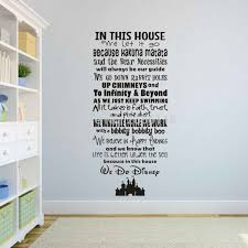 Cartoon Family Rules Art Lettering Wall Decals In This House We Let It Go Vinyl Mural Stickers For Home Decor Sticker Umbrella Decal Chinadecal Skin Sticker Aliexpress