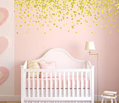 Amazon Com Gold Polka Dot Wall Decals Pink And Gold Nursery Gold Decals Vinyl Stars Wall Stickers Baby Nursery Wall Stickers Handmade