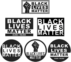 Amazon Com 6 Pack Black Lives Matter Sticker Set Vinyl Decal Anti Racism Blm Movement Bumper Sticker Car Phone Helmet Window Ipad Truck Wall Laptop Skins Decals Arts Crafts Sewing