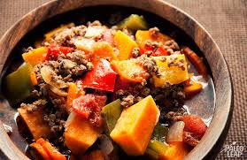 chunky meat and vegetable soup paleo leap