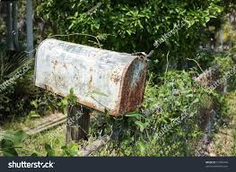 Rusty Mailbox Next Chain Link Fence Stock Photo Edit Now 91995446