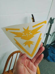 Vinyl Decal Sticker Car Window Pokemon Go Team Instinct Zapdos Yellow 4 Pack For Sale Online Ebay