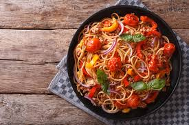 espaguetis con verduras thermomix
