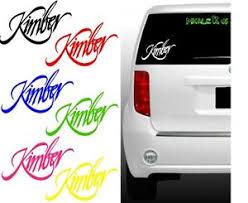 Kimber Logo Vinyl Decal Car Guns Sticker Iphone Android Car Window Tab Tool Box Ebay