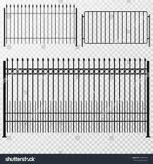 Metal Fence Gate Flat Style Isolated Stock Vector Royalty Free 730651090