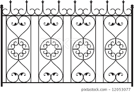 Wrought Iron Gate Door Fence Window Grill Stock Illustration 12053077 Pixta