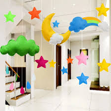 Felt Cloud Kids Room Decoration Cloud Scandinavian Style Children Room Decor Boys Girls Bed Hanging Teepees Tent Toy Wall Stickers Aliexpress