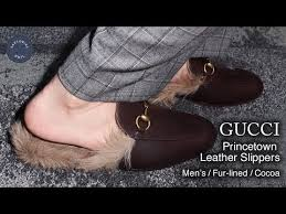 princetown leather slippers fur lined
