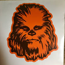 Excited To Share This Item From My Etsy Shop Star Wars 2 Color Chewbacca Decal Sticker Star Wars Stickers Star Wars Wallpaper Star Wars Characters