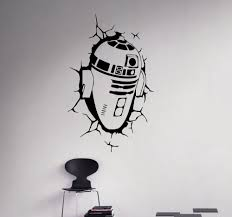 New Arrival Wall Decal R2 D2 Wall Vinyl Sticker Robot Droid Home Interior Removable Decor Custom Decals Star Wars Wall Decal Wall Decalscustom Decal Aliexpress