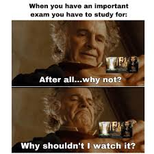 "Bilbo Baggins on Instagram: ""There is always time to watch lotr ..."