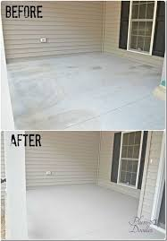 our front porch concrete repair with