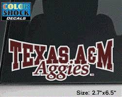 Texas A M Aggies Bowtie Style Decal 12th Man Shop The Official Store Of The Athletic Department