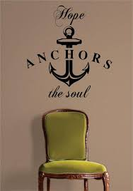 Hope Anchors The Soul Quote Nautical Ocean Beach Decal Sticker Wall Vi Boop Decals