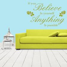 Wall Vinyl Decal Sticker Bedroom Decal Words Sign Quote If You Belive Stickersforlife