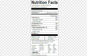 nutrition facts label monster energy
