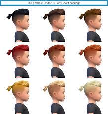 toddler to elder male undercut ponytail
