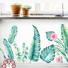 Derun Trading Leaf Wall Decals Palm Tree Buy Online In Aruba At Desertcart