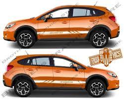 Side Door Vinyl Decal Stripes Kit Graphics Custom For Subaru Crosstrek