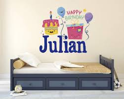 Child S Name And Birth Date Decal Bedroom Wall Art Sticker Vinyl Decal