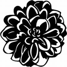 Dahlia Flowers 1 Floral Flowers And Garland Decals Custom Lettering And Decals At Signnetwork Com
