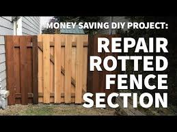 How To Repair And Replace Wooden Fence Section Panel Only Fix Rotted Leaning Alternating Slats Youtube Fence Sections Wooden Fence Fence Panels