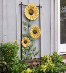 sunflower garden metal trellis wall art