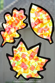 leaf suncatcher craft the best ideas