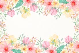 watercolor flowers wallpaper in pastel