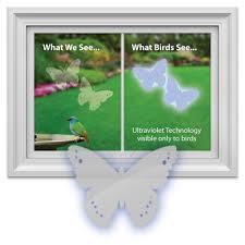 Bird Saving Window Decal Pack Butterfly Shaped