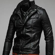 pizz annu pu men s leather jacket