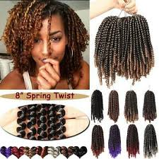 8 short curly spring twist afro