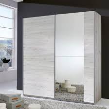stripe 2 door sliding wardrobe in white