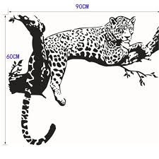 New Leopard Animal Removable Wall Stickers Quote Word Decal Vinyl Wall Sticker Diy Wall Art Home Kids Room Decor Art Living Room Wall Stickers Aliexpress
