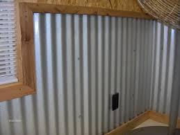 garage walls corrugated metal this
